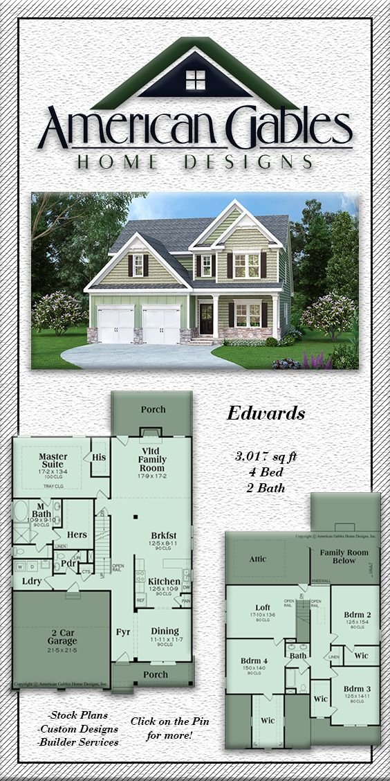 Narrow Lot Plan 3017 Square Feet 4 Bedrooms 2 Bathrooms Edwards Narrow Lot House Plans Two Story House Plans Narrow House Plans