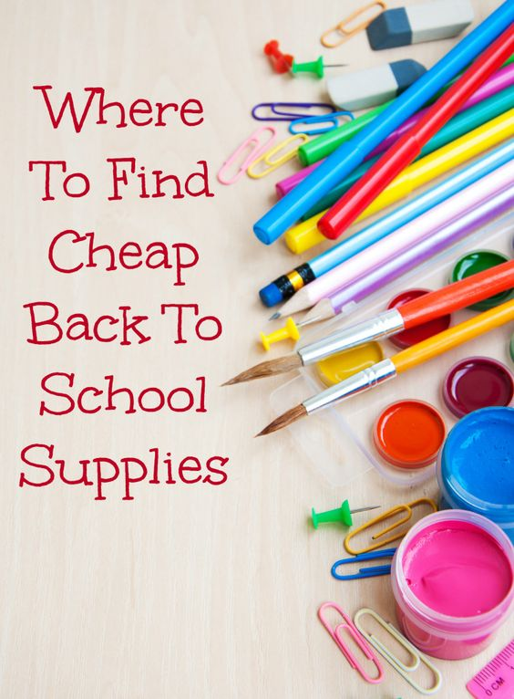 Where To Find Cheap Back To School Supplies | OurFamilyWorld