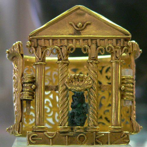 Ancient Roman bracelet; solid gold.