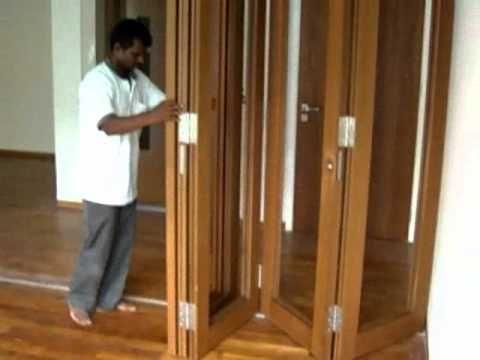 Enox Wooden Center Sliding Folding System Ewsldf 601 Youtube Wood Folding Doors Folding Doors Sliding Folding Doors