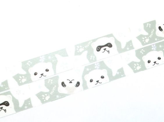 Lovely ferrets washi tape (W009)