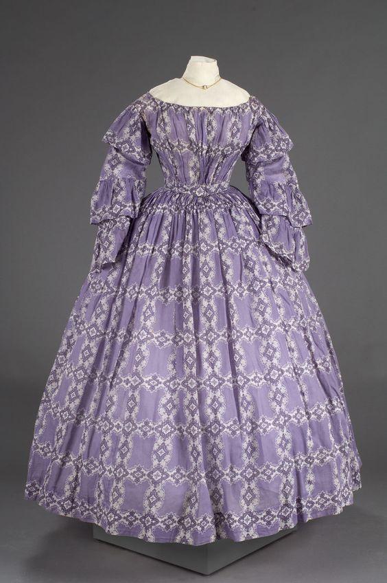 c. 1850, cotton, American: