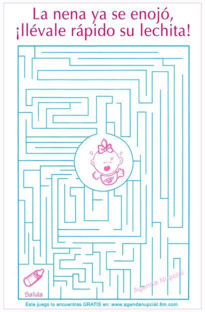 Brincadeira para o Chá: Labirinto do Bebê. Foto de JUEGOS BABY SHOWER encontrada en www.atooms.com