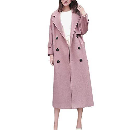 HTDBKDBK Women Ladies Warm Artificial Wool Coat Zipper Jacket Winter Parka Outerwear Outerwear Solid Color Jackets