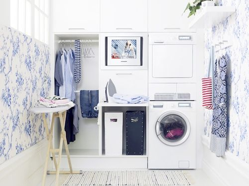 This laundry room would make me *want* to do laundry, a chore I normally despise.