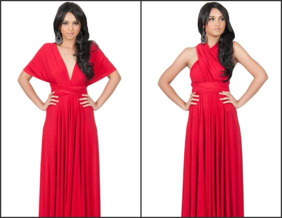 Infinity Convertible Wrap Maxi Dress $49.00 Link to purchase - http://bit.ly/1RAl3Tf
