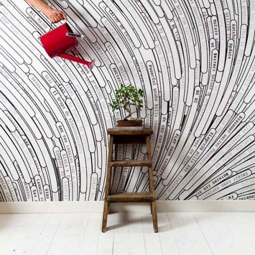 Custom text wallpaper? Would be kind of fun in an office... especially for a web-designer husband. :)