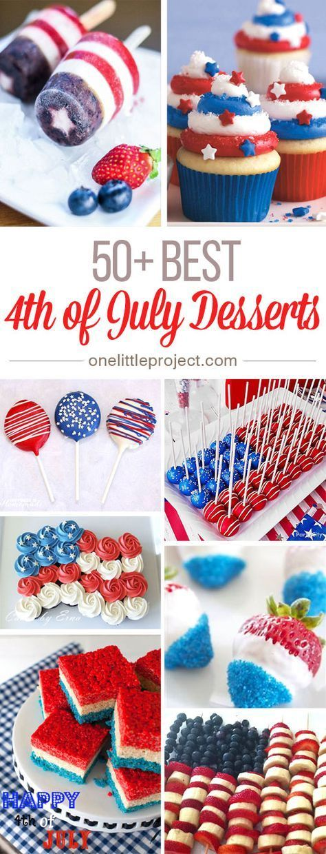 50+ Best 4th of July Desserts and Treat Ideas