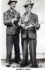 ROGERS & DIXON : BRITISH MUSIC HALL PERFORMERS ( HAND SIGNED PHOTO )