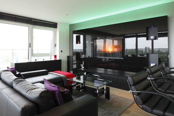 Bachelor Pad Penthouse Dickens Yard Development Bachelor Pad Retro Living Rooms Apartment Living Room