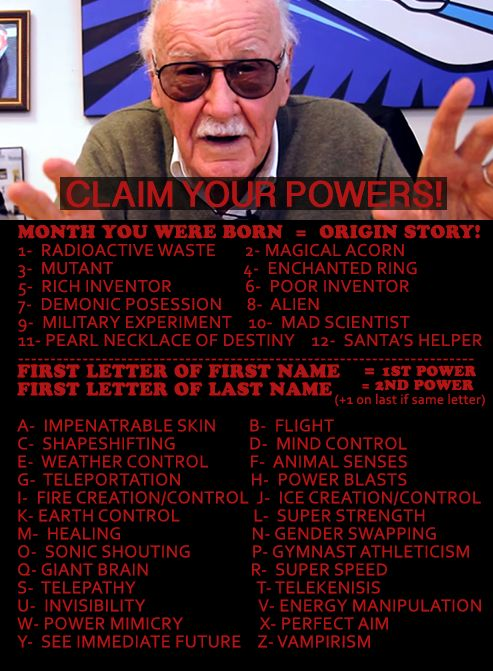 I'm an alien with power blasts and Earth control apparently. It's funny that an alien would have control over Earth.