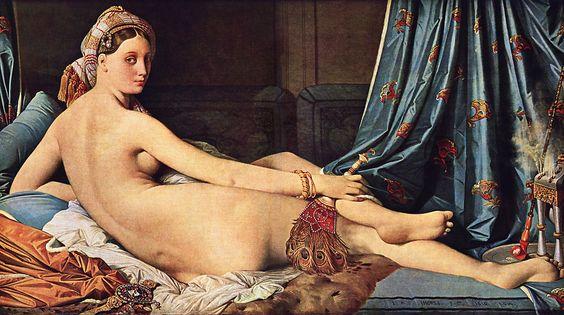 Grande Odalisque, la (Ingres), peinture réalisée en 1814 par Jean Auguste Dominique Ingres.  Pour avoir idéalisé la beauté féminine dans sa Grande Odalisque — au point de se soustraire à l'académisme des proportions anatomiques — Ingres a provoqué le scandale.