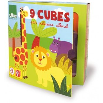 9 cubes pour bébé illustrés par Mélusine Allirol à retrouver sur…