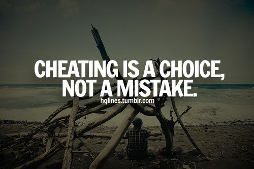 "Cheating is inexcusable. It didn't ""just happen"" They will do it again. Oh, and if they cheated WITH you, they will cheat ON you. Grow up."