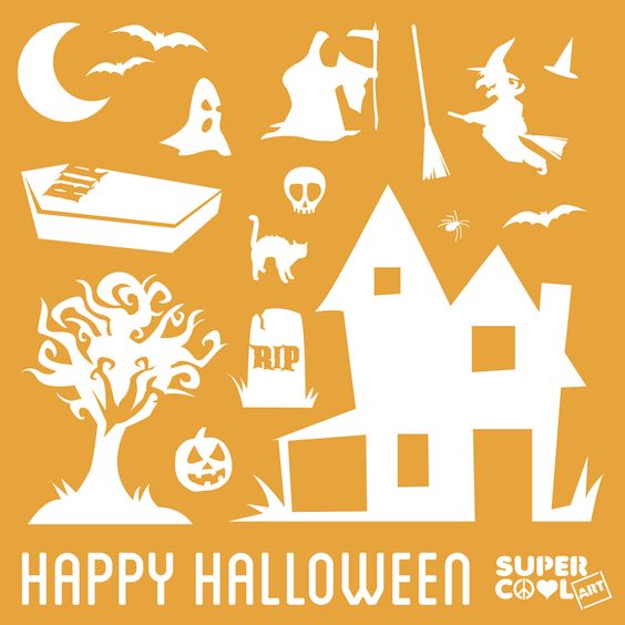Halloween Themed Stencil Set - SuperCoolArt