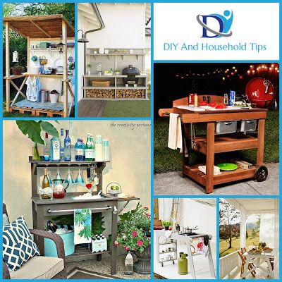 DIY And Household Tips: 12 Lovely and DIYable Outdoor Kitchens, Carts, and...