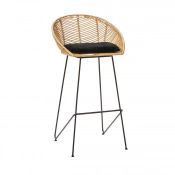 Chaise De Bar Design En Rotin 67cm Drawer Capurgana Avec Images