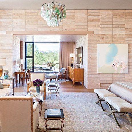 Master bedroom-neutral. Jan Showers: Architectural Digest