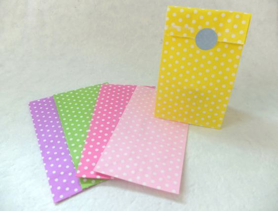 10 assorted colors polka dots stand up paper bags by eastmeetswest (Craft Supplies & Tools, Scrapbooking Supplies, Scrapbooking Paper, party bag, paper bag, craft paper bag, brown craft bag, package, gift wrap, paper bag dollies, brown paper bag, polka dots paper bag, polka dots, polka dots bag, cute paper bag)