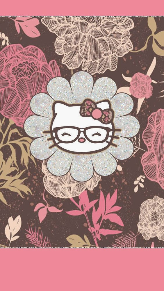 Dazzle my Droid: 4 piece floral hello kitty walls