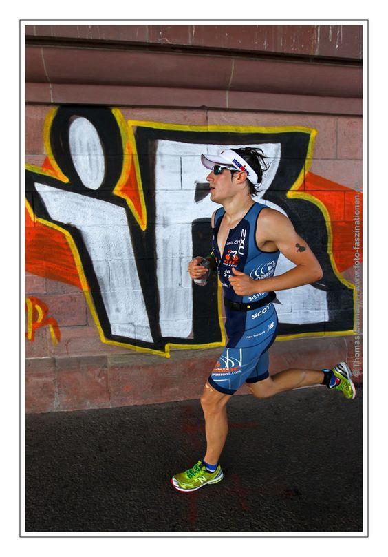 the final marathon during the  Frankfurter Sparkasse Ironman European Championship 2012th