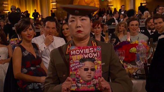 Tandis que le monde entier se mobilisait en hommage à « Charlie Hebdo », les paillettes ont repris leur droit à Hollywood sur le tapis rouge des Golden Globes.
