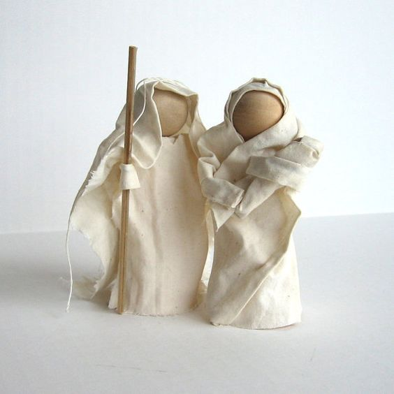 Glue, cloth and wooden beads - should be adaptable to different themes.