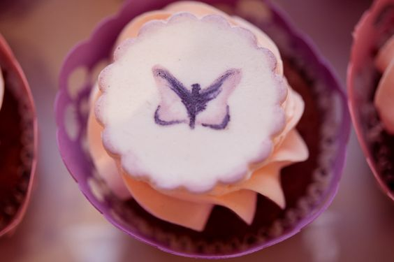 Handmade painted cupcake - Boheme delices francaises