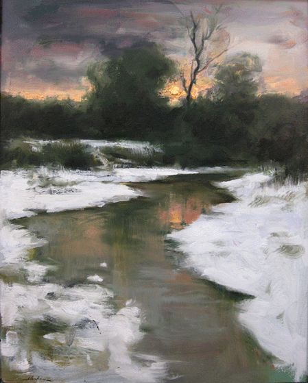 First Snow : Dennis Sheehan : Tilting at Windmills Gallery