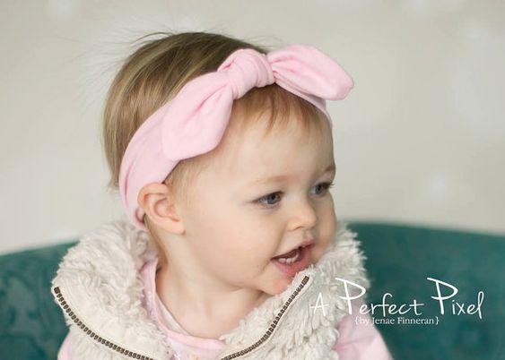 top knot headbandbaby headband knot baby head by PoshPeanutKids