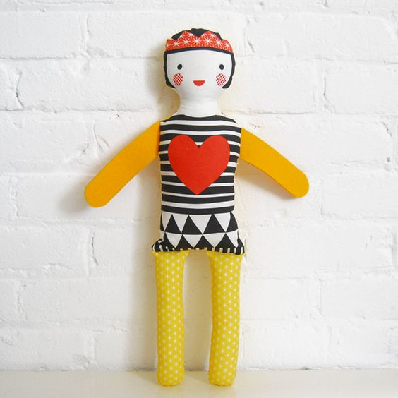 Queen of Hearts  Organic Modern Doll by Petit Collage
