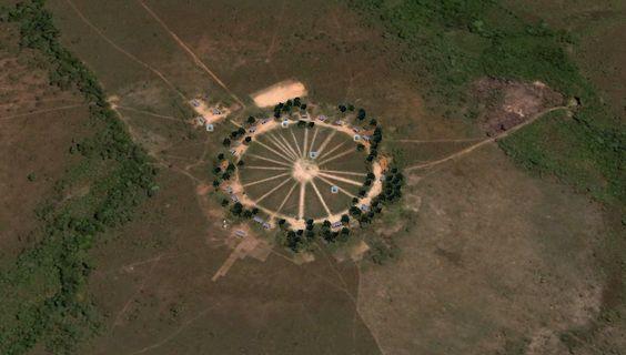 Aldeia do Povo Krahô - vista de satélite