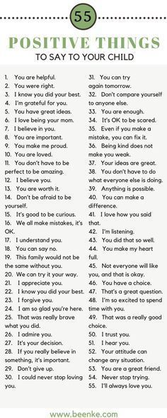 Positive Things To Say To Your Child 50aa620dd1e3d254359f7e6e256787b5