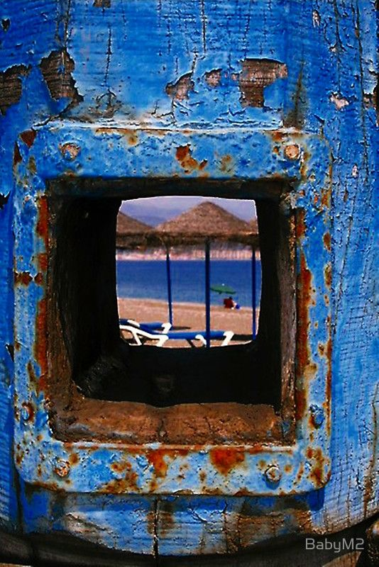 through the! by BabyM2  ---  on the beach..Torre del Mar,  Spain