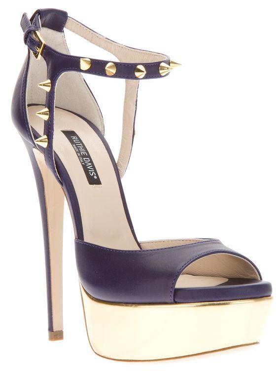 """Ruthie Davis Purple Studded Sandales """"Jupiter"""" €467 Spring Summer 2014 #Shoes #Heels"""