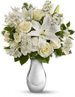 Teleflora 39 S Shimmering White Bouquet