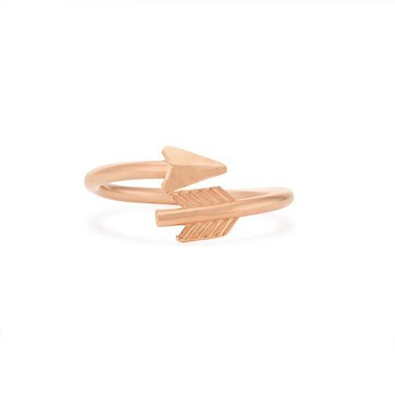 alex and ani eros arrow ring wrap in 14kt rose gold plated at the paper store