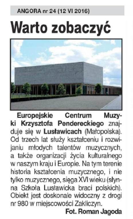 Lusławice_centrum muzyki Pendereckiego