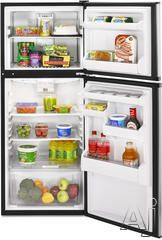 Whirlpool ET0MSRXT 9.7 cu. ft. Top-Freezer Refrigerator with 2 Glass Shelves, Clear Humidity-Controlled Crisper and Reversible Door Swing