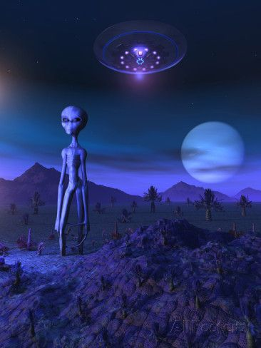 A Grey Alien Located on its Homeworld of Zeta Reticuli Posters by Stocktrek Images at AllPosters.com