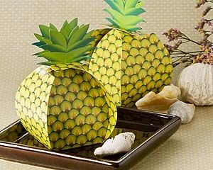 """""""Tropical+Treats""""+Oversized+Pineapple+Favor+Box+(24+Pack)"""