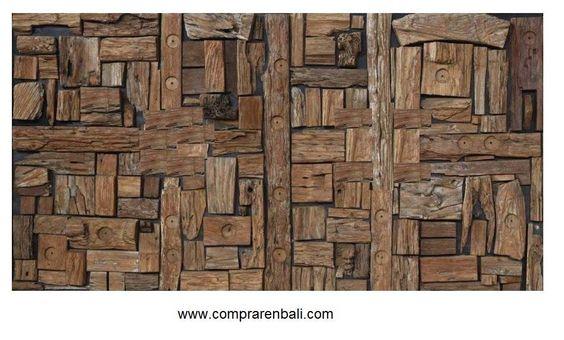 mosaico de madera reciclada  ( Ale debali study) Diseño, producción y fabricación exclusiva y ecológica por www.comprarenbali.com