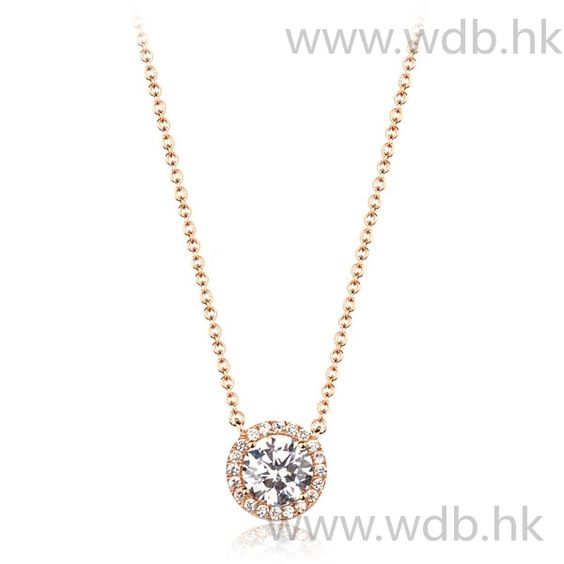 Gold Zirconia Pendant Necklace Zirconia, Alloy, Gold, Pendants, Wedding