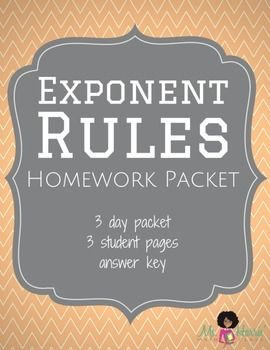 Homework help powers and exponents