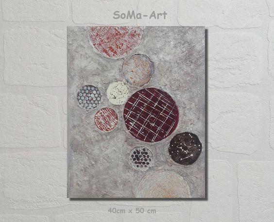 Acrylmalerei - Acrylbild 3D Cirkles #061 - ein Designerstück von SoMa-Art bei DaWanda