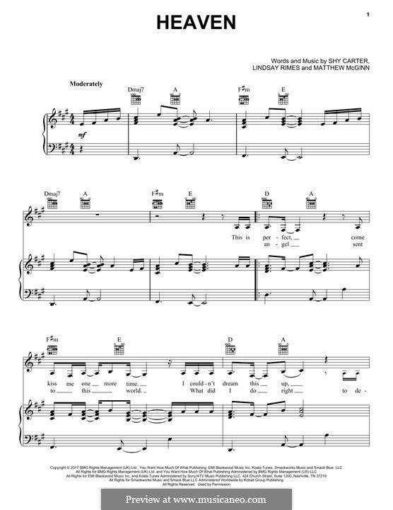Heaven Kane Brown Sheet Music Kane Brown Sheet Music Notes