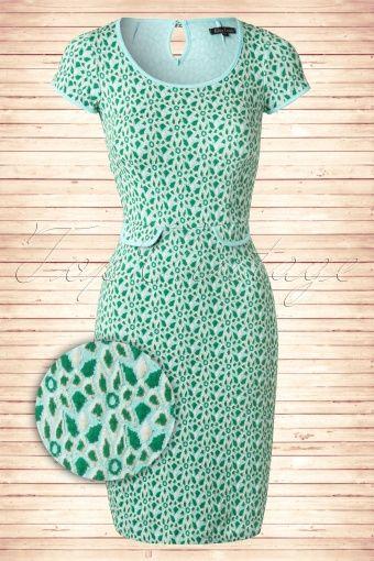 King Louie 60s Green Tulip Dress 101 49 13814 20150211 00052W2