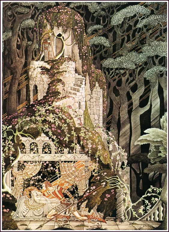 Illustration by Kay Nielsen for Sleeping Beauty