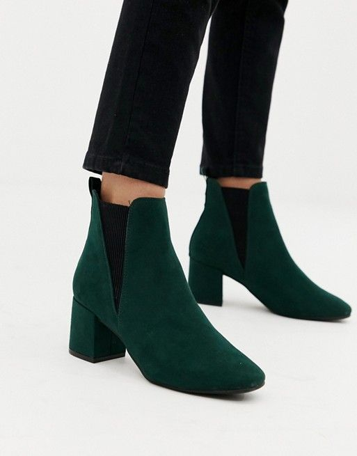 wide fit chelsea block heeled boot