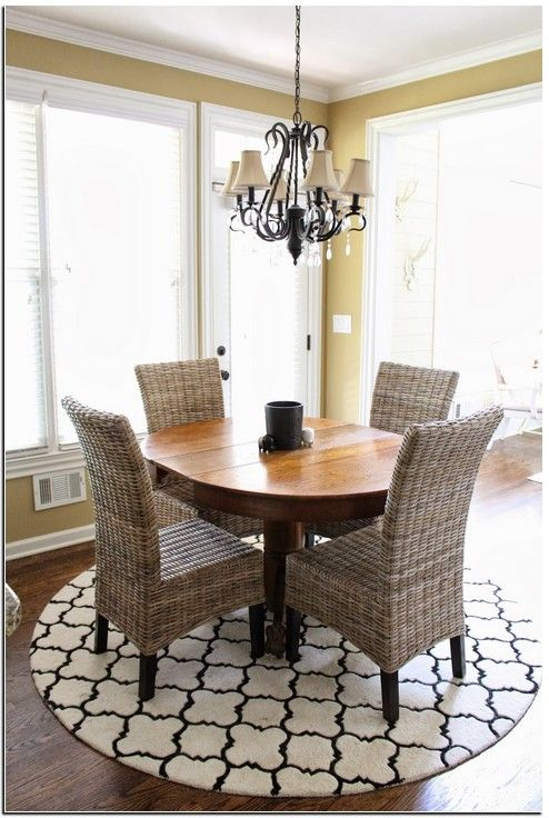 19 Pictures Of Rug Size For Kitchen Table Round Kitchen Rugs